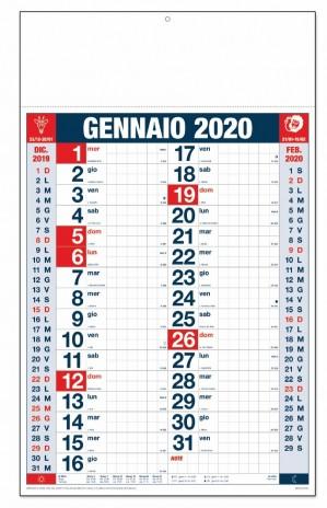 Calendario Trimestrale 2020.Calendario Olandese Da Muro Quadretti Trimestrale