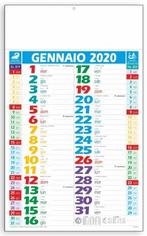 Calendario Trimestrali 2020.Olandese Calendario 2020 Colorato Personalizzato Economico