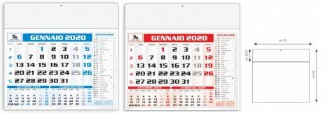 Calendario Trimestrali 2020.Calendario Americano Trimestrale Economico Personalizzato