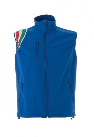 Gilet softshell tricolore
