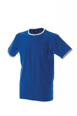 T-Shirt con tricolore bordi manica collo