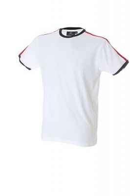 T-Shirt con bordi tricolore personalizzabile
